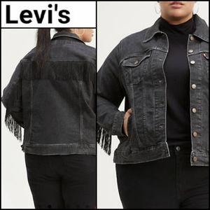 🆕️ LEVI'S Ex-Boyfriend's Trucker Fringe Jacket!